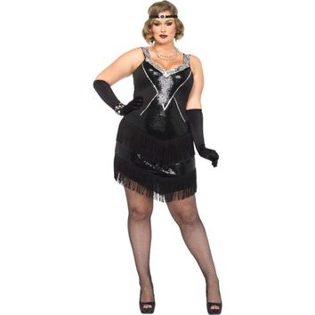 Adult Glamour Flapper Costume Plus Size
