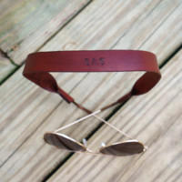 Timeless Leather Croakies - Red Cognac