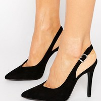 New Look Suedette Slingback Heel at asos.com