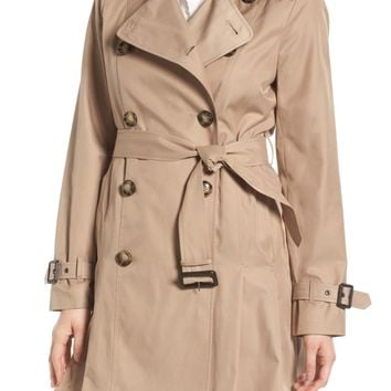 MICHAEL Michael Kors Double Breasted Skirted Trench Coat | Nordstrom