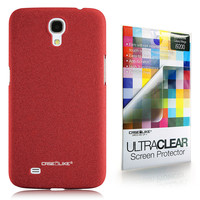 Quicksand Rubberized 9905 back cover, Samsung Galaxy Mega 6.3, Red