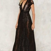 Turn the Trick Lace Maxi Dress
