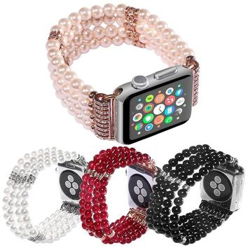 Luxury Agate Design with Spiral Flexible Cord Strap for iWatch Handmade Fashion Band for Apple Watch 38mm 42mm
