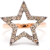 Rosa De La Cruz Diamond Star Ring - Browns - Farfetch.com