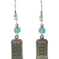 Doctor Who TARDIS Turquoise Bead Earrings