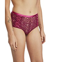 Mila High Waisted Undie, Berry