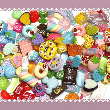 Kawaii Sweets Candy Fruit Cabochon Decoden Mix by DreamDeco