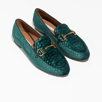 Equestrian Buckle Loafers - Green - Loafers - & Other Stories GB