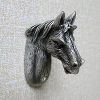 Horse Knobs / Dresser Knobs / Drawer Knobs / Drawer Pull Handles / Animal Cabinet Knobs Pulls Handle UNIQUE Antique Silver Black