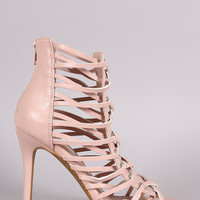 Shoe Republic LA Strappy Caged Stiletto Heel