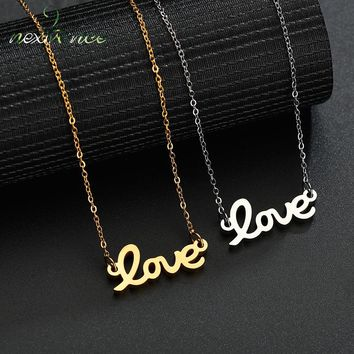Nextvance Love Letter Pendant Necklace Romantic Initial Symbol Couple Necklaces for Lover Engagement Gift Collier