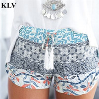 Women Summer Shorts Casual Women's Hot Shorts Printed Sexy Woman Short High Stretch Exercise Trousers July29