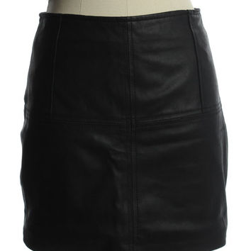 Asos Leather Moto Skirt
