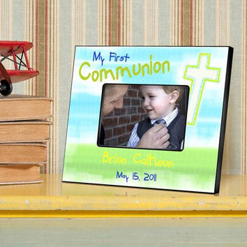 Bright Blessings First Communion Picture Frames