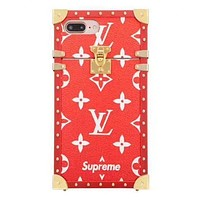 Red Louis Vuitton X Supreme Trunk Case Red