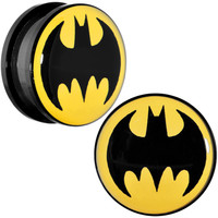 "3/4"" Black Acrylic Batman Screw Fit Plug Set 