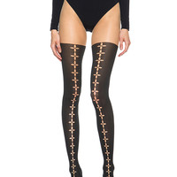 Phila Tights in Sahara & Black