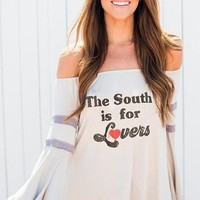 "JUDITH MARCH ""The South is For Lovers"" Graphic Tee"