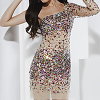 Short Sequined Prom Dresses, Prom Gowns with Sequins at PromGirl