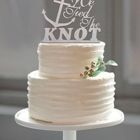 "Beach Wedding Anchor Cake Topper ""Tied the Knot"""