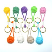 Monkey Fist Key Chain, Traditional, Tropical Colors