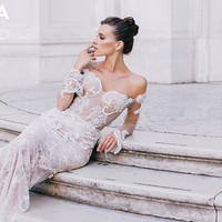 Lace wedding dress, wedding dress, GORJETA, long sleeve wedding dress, sexy wedding dress