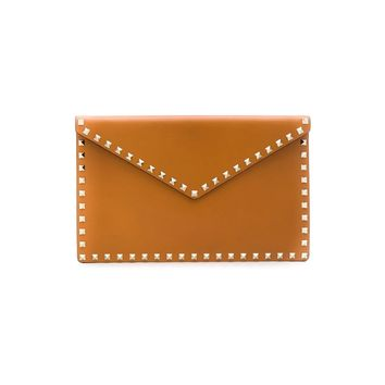 Leather Envelope Clutch Rockstud by Valentino