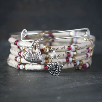 The Carrie Diaries Book Bead Charm Bracelet Gift Set