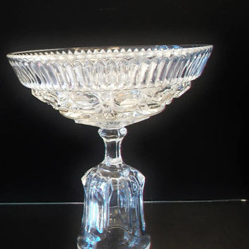 Repurposed Cut Glass Candy Dish Upcycled Clear Vintage Dishes Dining Entertaining