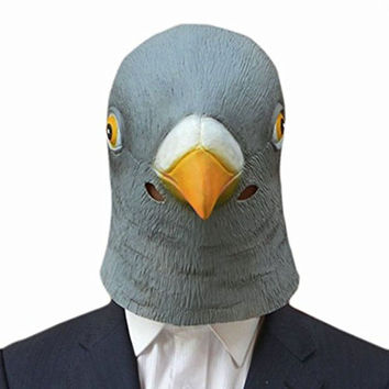 Pigeon Mask Latex Giant Bird Head Halloween Cosplay Costume Theater Prop Halloween Party Decorations Bird Mask