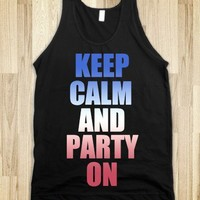 KEEP CALM AND PARTY ON - JULY 4TH TANK
