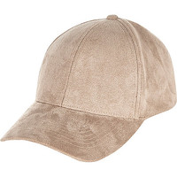 Light brown faux-suede cap - hats - accessories - women