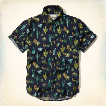 Cactus Print Short Sleeve Shirt