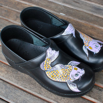 Hand Painted Koi Fish Dankso shoes