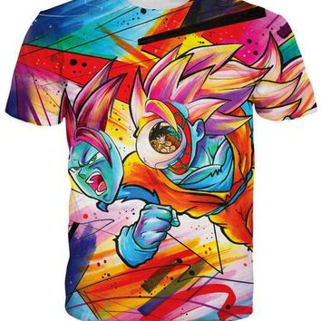 Dragon Ball Z Graphic Summer Anime T-Shirt Colorful