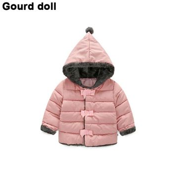 High quality Baby girls winter clothes kids jacket outerwear for girls parkas fashion Snow Wear babys Hoodies clothing hot sale