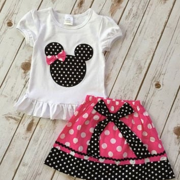 Minnie Mouse Outfit, Girls Minnie Shirt, Minnie Birthday Shirt, Minnie Mouse Dress, Disney Outfit, Disney World Shirt, Personalized Disney