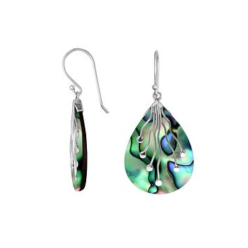 AE-6230-AB Sterling Silver Earring With Abalone Shell