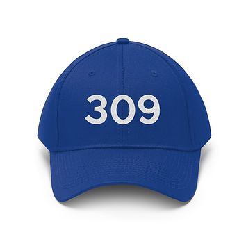 Illinois 309 Area Code Embroidered Twill Hat