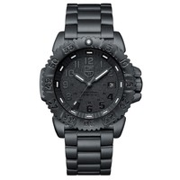 Men's Luminox Navy SEAL Steel Colormark 3150 Series Blackout Watch