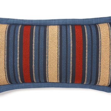 French Laundry Home, Western Stripe 12x24 Pillow, Navy/Multi, Decorative Pillows