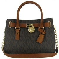 MICHAEL Michael Kors Women's Hamilton East/West Satchel-Brown, One Size