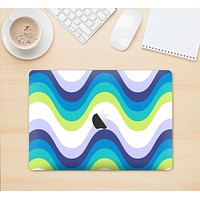 """The Fun Colored Vector Sharp Swirly Pattern Skin Kit for the 12"""" Apple MacBook"""