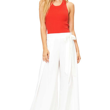 Pleat Drama Wide Leg Pants