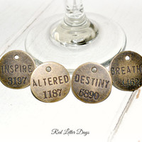 Inspirational Wine Charms, Motivational Glass Clips, Unique Hostess Gift