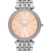 Michael Kors Watch, Women's Darci Glitz Stainless Steel Bracelet 39mm MK3218