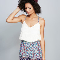 Mimi Chica™ Lacey Boho Romper | Wet Seal