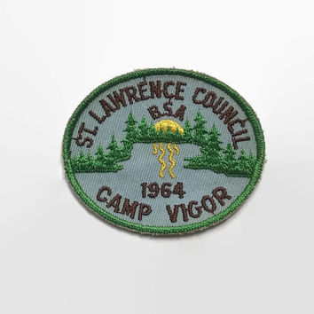 Vintage 60s BSA PATCH / 1960s Camp Vigor St. Lawrence Patch