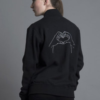 Heart Hands Bomber Jacket