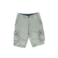 INC Mens Linen Blend Slub Cargo Shorts